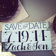 save the date signs handpainted save the date wooden sign by theirheartsandbones