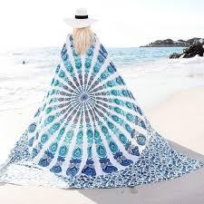 white u0026 blue floral indian mandala dorm u0026 bedroom hippie tapestry