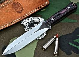 Handcrafted Kitchen Knives by Knife Store Cfk Usa Custom Handmade D2 Fairbairn Combat Stiletto