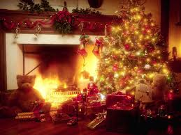 christmas tree fireplace christmas lights decoration