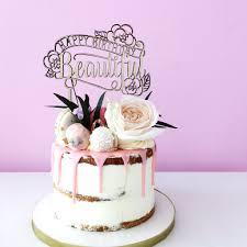 happy birthday beautiful cake topper u2013 confetti bows