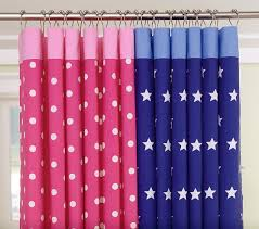 Pottery Barn Kids Shower Curtains Dot U0026 Star Shower Curtains Pottery Barn Kids