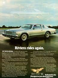 car advertisement 1977 buick riviera advertisement u2013 with wire wheel covers