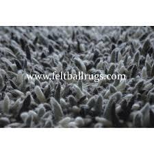 Wool Ball Rug Luxurious Natural Felt Shag Rug Felt Ball U0026 Rugs