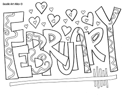 february coloring page fablesfromthefriends com