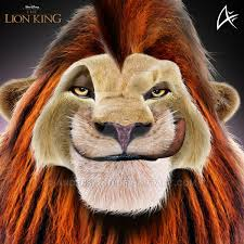 simba portrait3 commission lion king andersiano