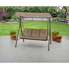 Patio Furniture At Walmart - mainstays maddison 3 seat cushion swing brown walmart com