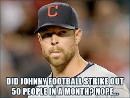 Johnny Football Meme - unimpressed kluber johnny football the tribe daily the