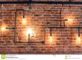 brick wall design design of vintage wall rustic design brick wall with light bulbs