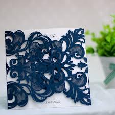 Affordable Pocket Wedding Invitations Navy Blue Laser Cut Pocket Wedding Invitations Ewws032 As Low As