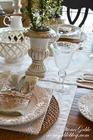 table setting runner and placemats formula for setting a casual table stonegable
