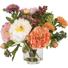 Peony Flowers by Silk Peony Flower Arrangement Free Shipping Today Overstock