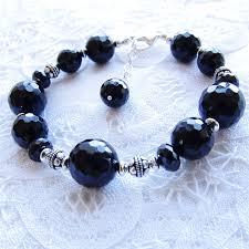 sterling silver black onyx bracelet images Black onyx bracelet black spinel sterling silver bali bead jpg