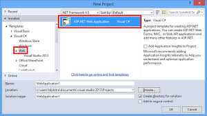 design web form in visual studio 2010 creating asp net web projects in visual studio 2013 microsoft docs