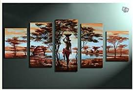 Wall Art Sets For Living Room Amazon Com Unixtyle Art 100 Hand Painted Wood Framed Wall Art