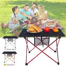 outdoor camping folding table desk garden beach picnic aluminium