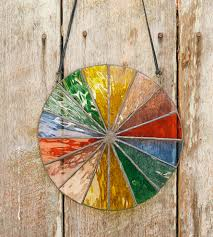 water stained glass color wheel home decor lighting the water stained glass color wheel radiating a vibrant swirl of color this chromatic wheel