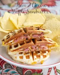 thanksgiving waffle ham u0026 cheese waffle sandwiches waffle sandwich waffle iron and