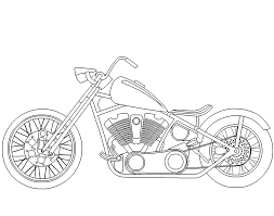 9 images of easy chopper motorcycle coloring pages chopper