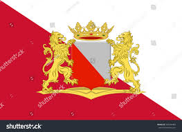 Flag Capital Flag Utrecht Capital Most Populous City Stock Illustration