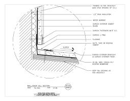 Window Sill Detail Cad Usg Design Studio Flashing Download Details