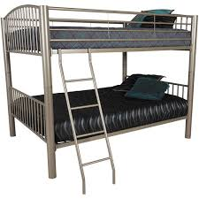 full over full black bunk bed 0705b industrial metal afw