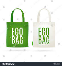 Eco Bag by Eco Fabric Cloth Bag Tote Isolated Stock Vector 439682539