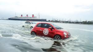 amphibious car is it just me or is that a fiat 500 racing over the ocean the