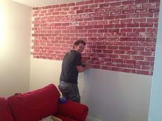 How To Paint A Faux Brick Wall - painting faux brick with a sea sponge and glaze paint