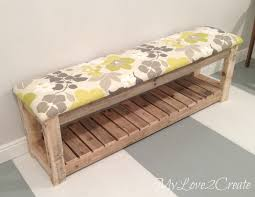 Plans For Making A Wooden Bench by Diy Upholstered Bench My Love 2 Create