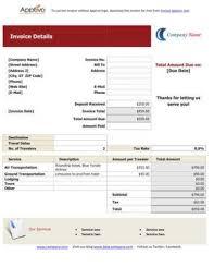 travel invoice template word rabitah net