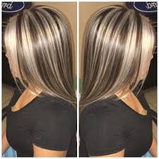 short brown hair with blonde highlights short brown hair with chunky blonde highlights
