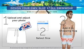 design yor own blue atoll siwmwear for men in our website