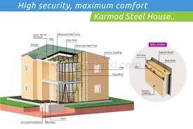 light steel frame modular homes construction manufacturers