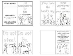 ten commandments coloring pages coloring home