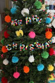 diy pom pom letter ornaments paint the gown