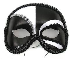 black masquerade masks for men antonio black white mens masquerade mask