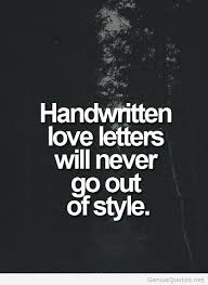 handwritten letters quote