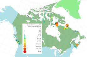 Canada On A Map Tidal Power Energy British Columbia