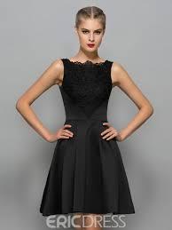 klshort black dresses ericdress straps lace black cocktail dress 11920133