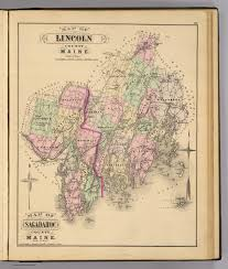 Maine County Map Lincoln Co Sagadahoc Co David Rumsey Historical Map Collection