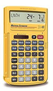building material cost calculator estimator 1 99 26 57 amazon com calculated industries 4019 materials estimating