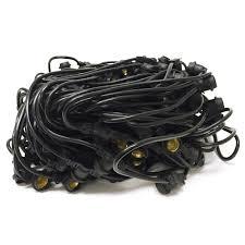 Commercial Grade String Lights by Commercial Medium Base String Light Bulk Reel Black