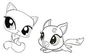 coloring pretty lps coloring sheets littlest pet shop pages
