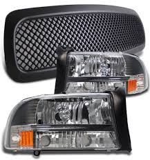 dodge dakota black grill dodge dakota 1997 2004 black mesh grille and headlights set