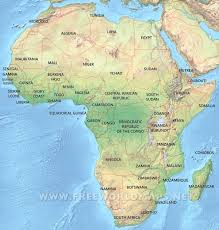 Map Of Africa And Europe by Africa Physical Map U2013 Freeworldmaps Net