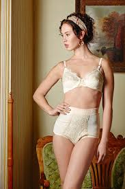 Lingerie For A Bride Century Silk High Waist Panty Knickers Ivory With Gold Detail