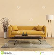 Yellow Livingroom by Contemporary Modern Living Room With Grey Sofa Stock Photo Image