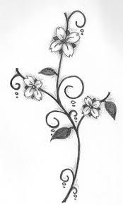 simple pencil sketches of love flowers pencil sketch flower design