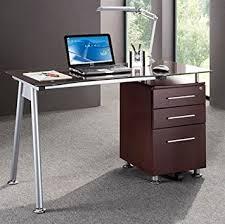 Amazon Com Techno Glass Top Computer Desk Workstation With
